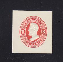 UO37 6c Vermillion on White, Mint Full Corner, 36 x 38