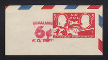 UC23 6c on 5c Centenary, Carmine, Mint Cut Square, 85 x 44