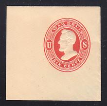 UO38 6c Vermillion on Cream, Mint Full Corner, 50 x 50
