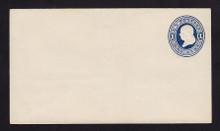 U108 UPSS # 254/T11 1c Dark Blue on White, die 1, Mint Entire