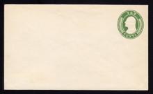 U17 UPSS # 27 10c Green on White, Mint Entire