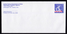 UO86a & 87a UPSS# OM39 & 40 52c & 75c Passport Envelopes with Washington DC CC's, RARE