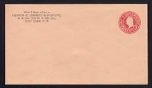 """U431d UPSS# 2396-19 2c Carmine on Oriental Buff, Mint Entire, Missing """"E"""""""