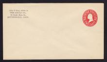 U411g UPSS# 1762-20 2c Carmine on White, die 8, Mint Entire, CC