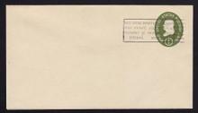 U532a UPSS# 3282-43 1c Green, die 2, Mint Entire, Penalty Overprint