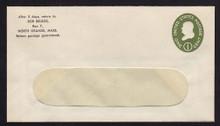 U532a UPSS# 3284a-43 1c Green, die 2, Mint Entire