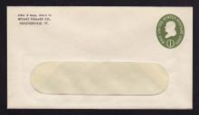 U532b UPSS# 3292-43 1c Green, die 3, Mint Entire