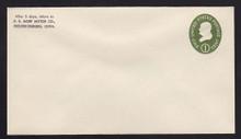 U532b UPSS# 3294-43 1c Green, die 3, Mint Entire