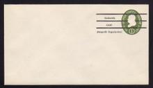 U532b UPSS# 3294a-45 1c Green, die 3, Mint Entire, Precanceled