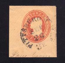 U4 3c Red on Buff, die 2, Used Full Corner, 41 x 45