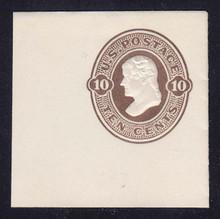 U91 10c Brown on White, Mint Cut Square, 48 x 48