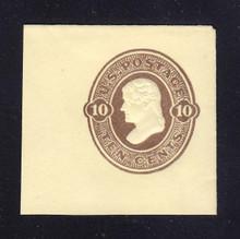 U92 10c Brown on Amber, Mint Full Corner, 45 x 43