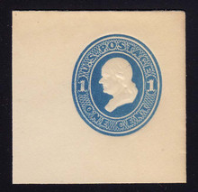 U113 1c Light Blue on White, die 2, Mint Full Corner, 50 x 50