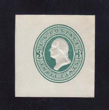 U159 3c Green on White, die 1, Mint Cut Square, 40 x 40