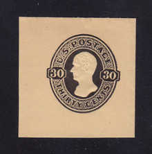 U209 30c Black on Manila, Mint Full Corner, 42 x 43