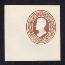 U78 2c Brown on White, Mint Cut Square, 47 x 47