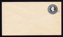U464 UPSS #2913-23 2c on 5c Blue, Mint Entire, Thin under flap