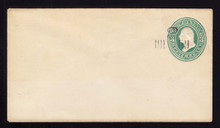 U467 UPSS #2914 2c on 3c Green, Mint Entire, Light tonning as usual