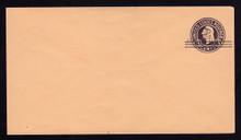 u470evar, UPSS #3055 2c Type 4 over 2 Surcharges on 3c Dark Violet on Oriental Buff, die 6, Mint Entire