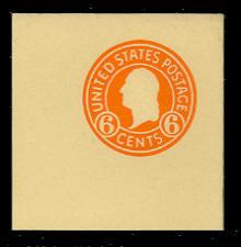 U530 6c Washington Orange on Amber, Mint Full Corner