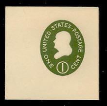 U532b 1c Franklin Green on White, die 3, Mint Full Corner