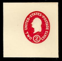 U533b 2c Washington, Carmine, die 2, Mint Full Corner