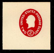 U533c 2c Washington, Carmine, die 4, Mint Full Corner