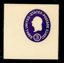 U534 3c Washington, Dark Violet, die 4, Mint Full Corner