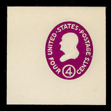 U536 4c Franklin, Red Violet, die 1, Mint Full Corner