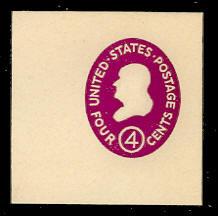 U536a 4c Franklin, Red Violet, die 2, Mint Full Corner