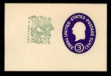 U540b 3c + 1c Washington, Dark Violet, die 4, Mint Full Corner