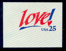 U616 25c Love!, Mint Full Corner