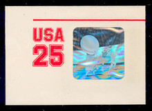 U618 25c Football Hologram, Mint Full Corner