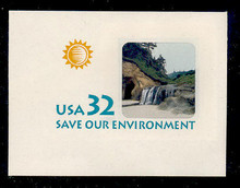 U640 32c Save the Environment, Mint Full Corner