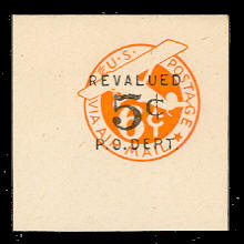 UC13 5c on 6c Orange, die 3, Mint Full Corner