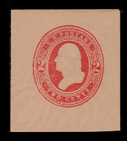 U239 2c Red on Fawn, Mint Full Corner, 40 x 43