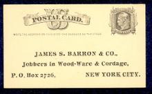 "UX5 UPSS# S4ac 1c Liberty Head, ""Write the addr.... Unused Postal Card"