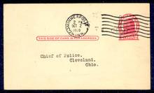 UX32 UPSS# S44-26, Minneapolis Surcharge, Used Postal Card