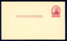 UX33 UPSS# S45-15, Detroit Surcharge, Mint Postal Card