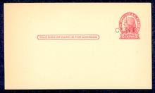 UX33 UPSS# S45-17, Jackson Surcharge, Mint Postal Card