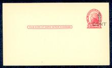 UX33 UPSS# S45-19, Kansas City Surcharge, Mint Postal Card