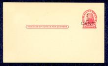 UX33 UPSS# S45-25, Milwaukee Surcharge, Mint Postal Card