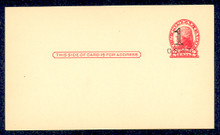 """UX33 UPSS# S45-29, New York """"Small Cent"""" Surcharge, Mint Postal Card"""