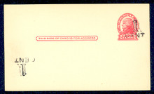 UX33e UPSS# S45-43g, Springfield Plus Inverted Surcharge, Mint Postal Card