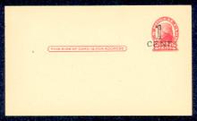 UX33 UPSS# S45-44, Washington Surcharge, Mint Postal Card