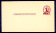 UX35 UPSS# S47-1, Washington Press Printed Surcharge, Clean Face Postal Card
