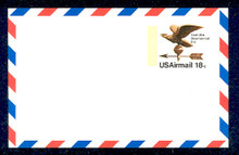 UXC15 UPSS# SA14 18c Eagle Weather Vane Mint Postal Card