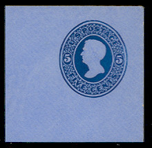 U175 5c Blue on Blue, die 1, Mint Full Corner, 50 x 50