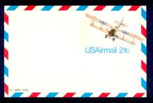 UXC17 UPSS# SA16 21c Curtiss Jenny Mint Postal Card