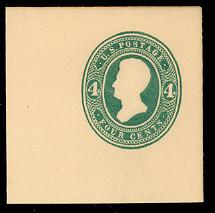 U256 4c Green on White, die 2, Mint Full Corner, 50 x 50